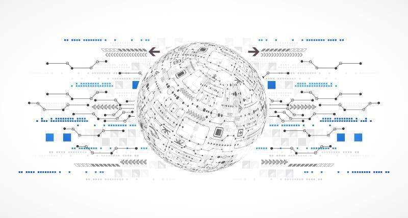 您的事务的抽象计算机科技背景 库存例证