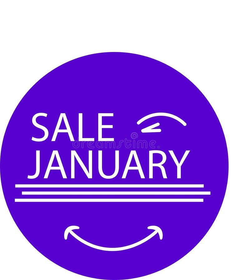 您的产品销售的1月广告象与眼睛 库存照片