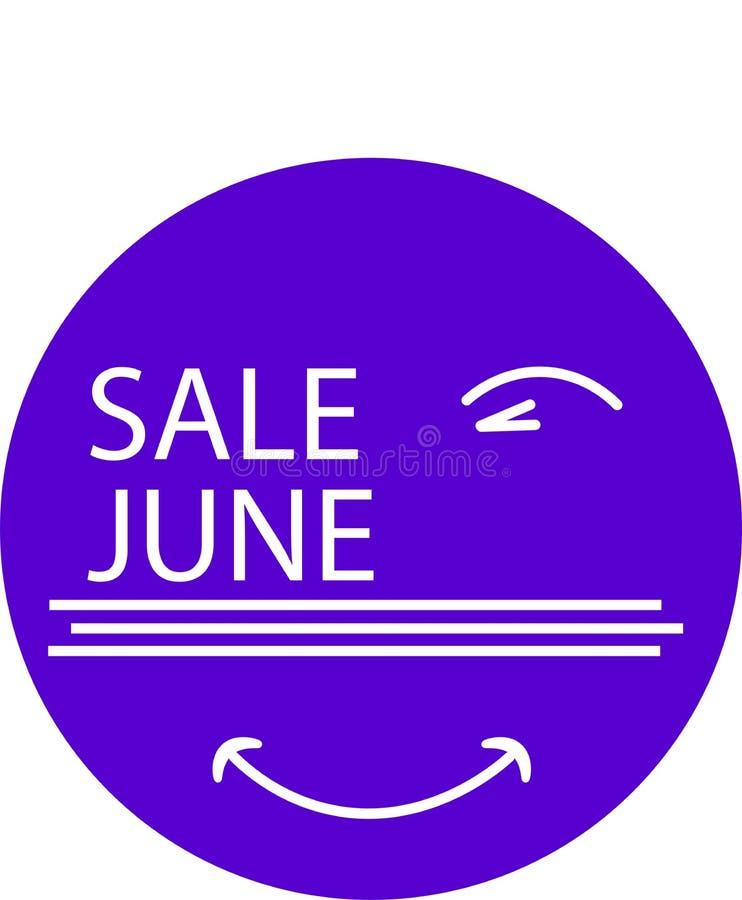 您的产品销售的6月广告象 向量例证