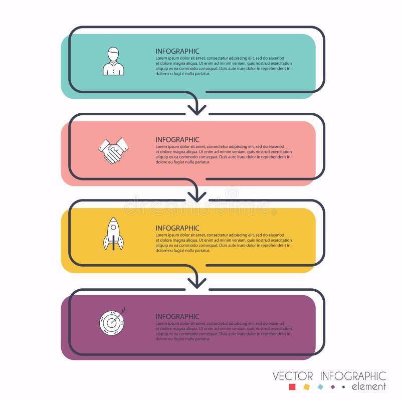 您的企业介绍的传染媒介信息图表 可以是用途 向量例证