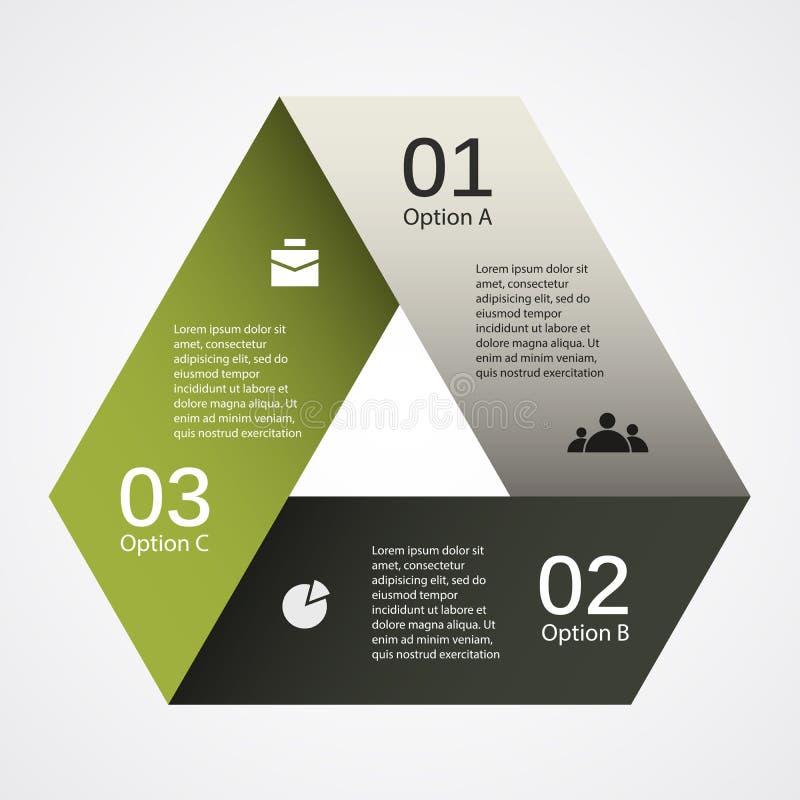 您的企业项目的现代传染媒介模板 库存例证