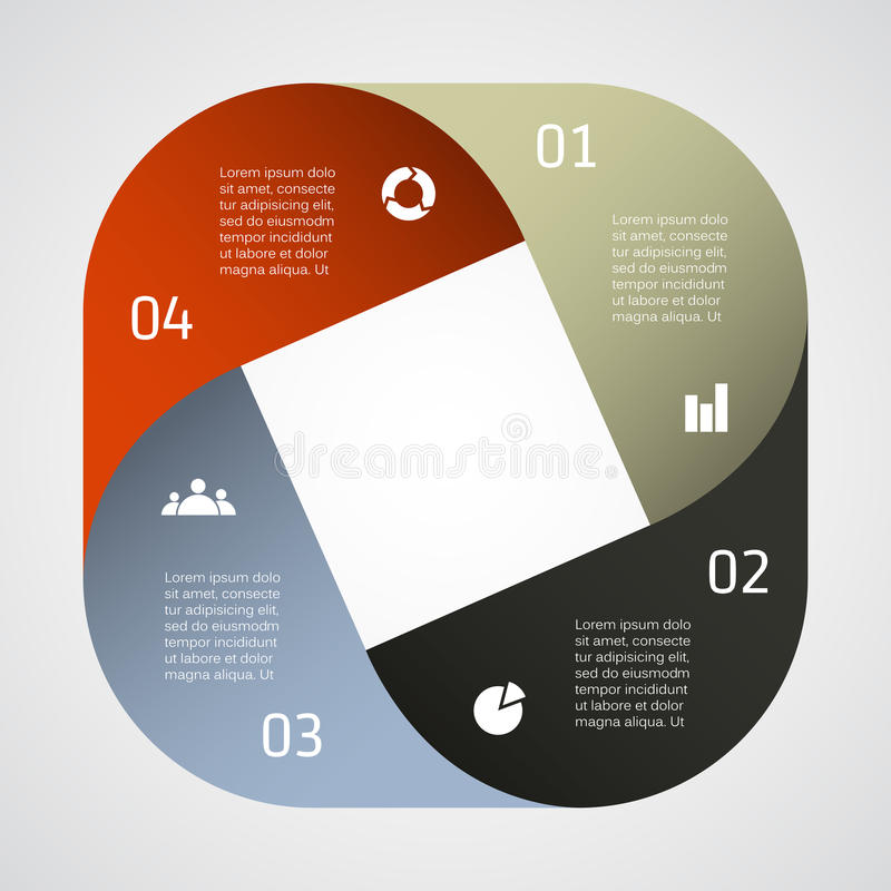 您的企业项目的现代传染媒介模板 向量例证