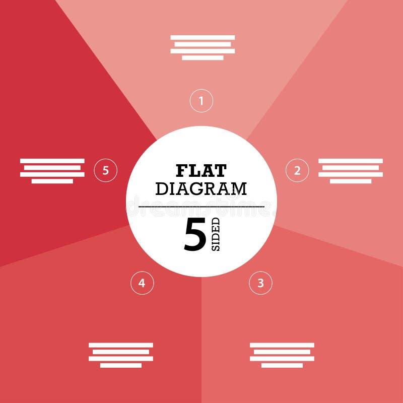 您的企业介绍的平的几何图模板与正文和象 库存例证