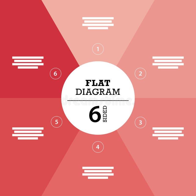 您的企业介绍的平的几何图模板与正文和象 皇族释放例证