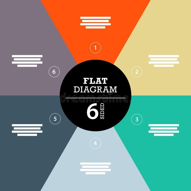 您的企业介绍的平的几何图模板与正文和象 向量例证