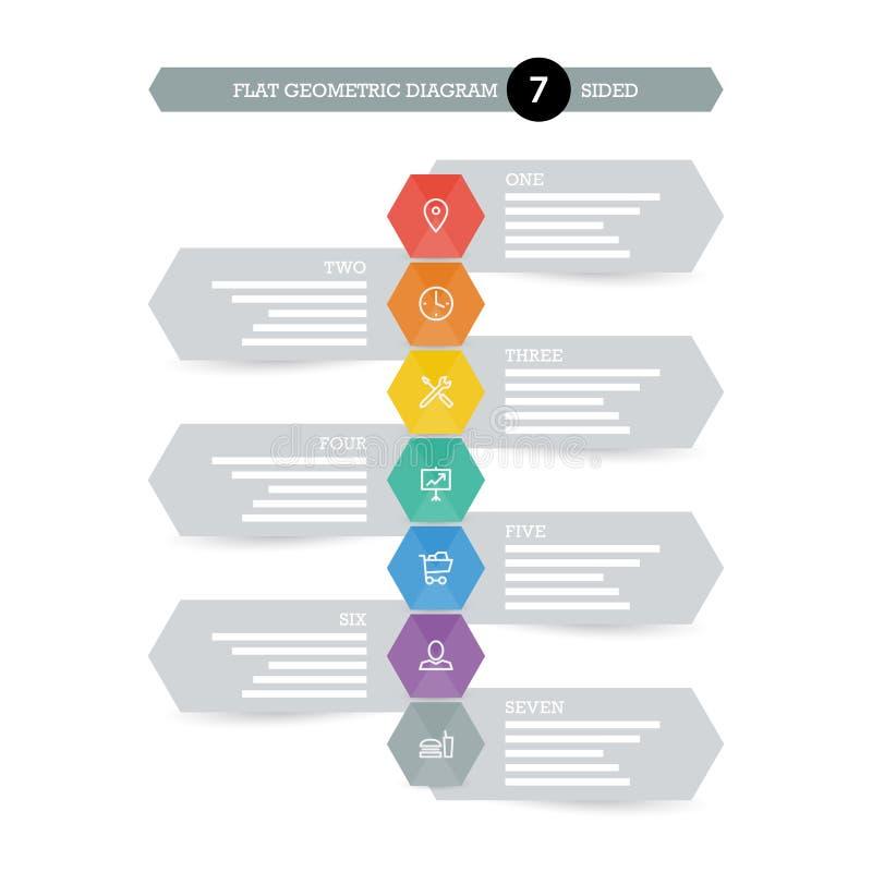 您的企业介绍的平的几何图模板与象 库存例证