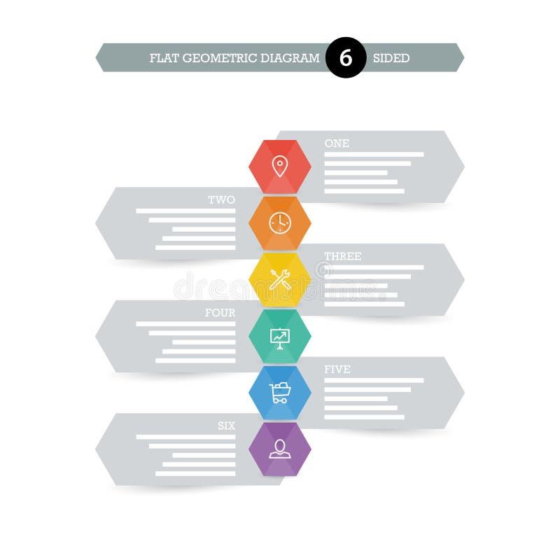 您的企业介绍的平的几何图模板与象 向量例证