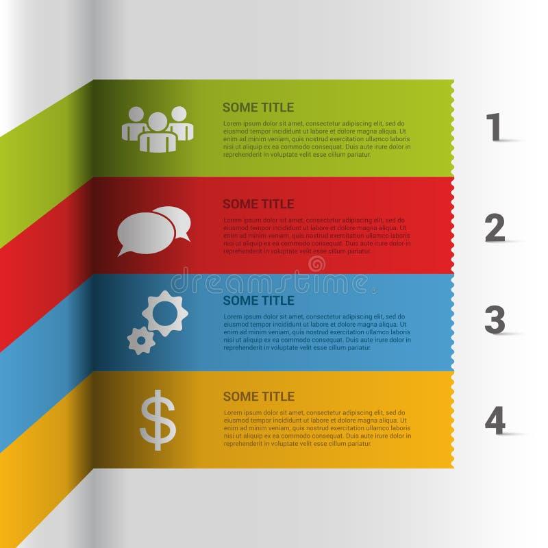 您的企业介绍的模板 传染媒介步 向量例证