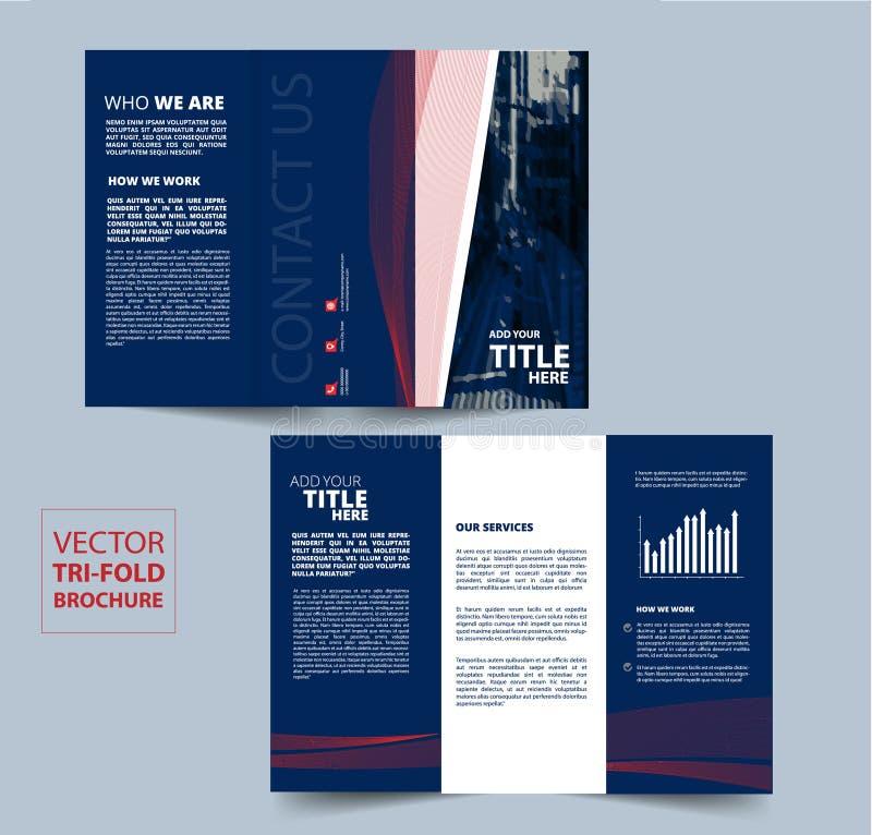 您的公司的三部合成的小册子传染媒介设计 库存例证