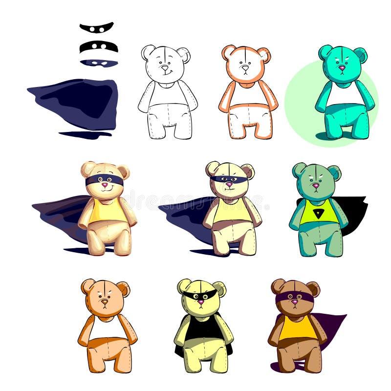 您的动画片的强悍救助者熊 免版税库存照片