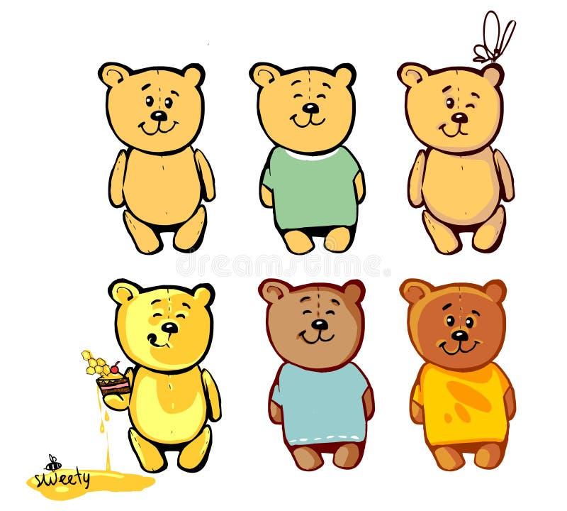 您的动画片的2可爱的熊 免版税库存照片