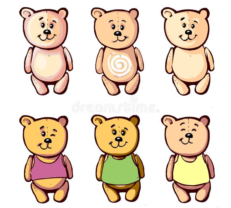 您的动画片的3可爱的熊 免版税库存图片
