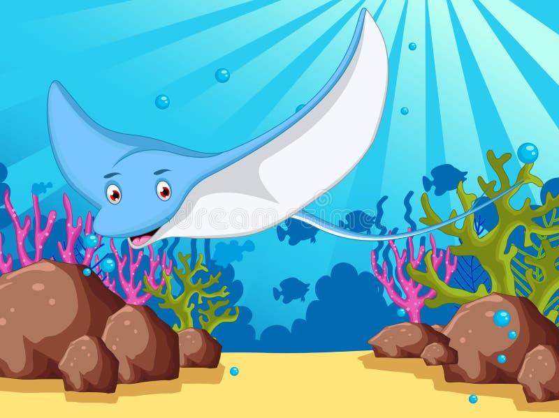 您的动画片黄貂鱼设计 向量例证