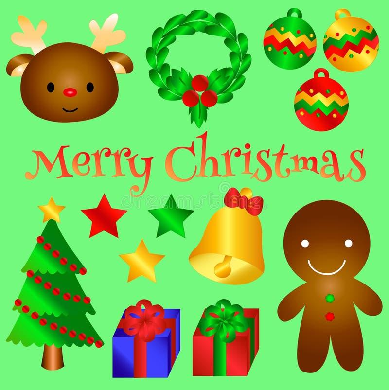 您的可爱的圣诞节对象版本2 皇族释放例证