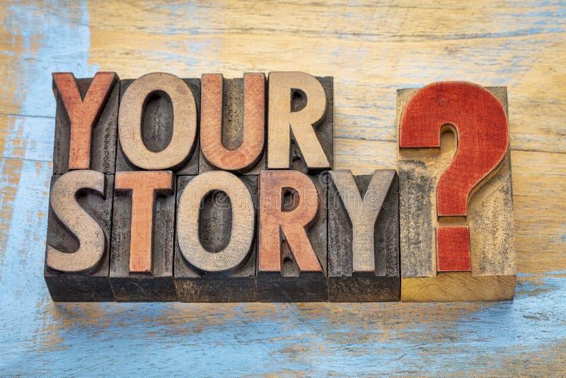 您的在木类型的故事问题 库存照片