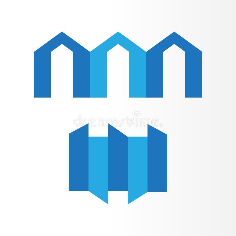 您的建筑的新的设计不动产商标,房子公司 库存例证