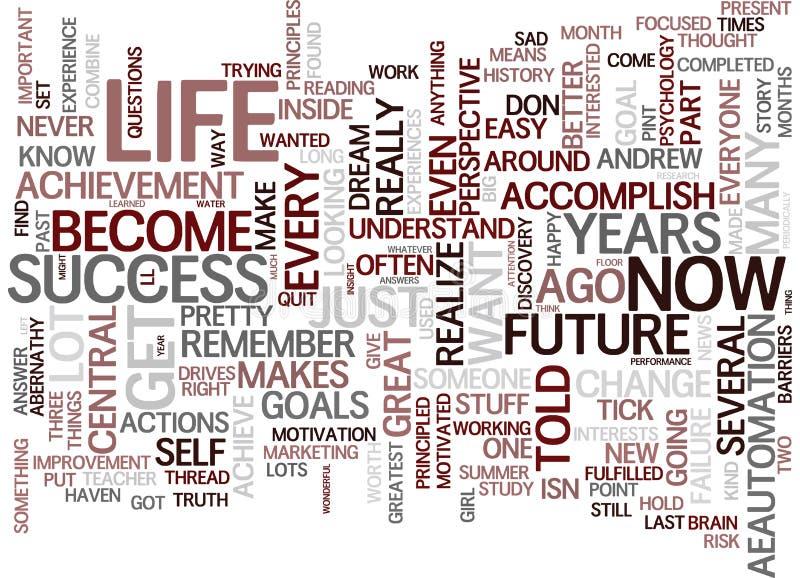 您的您的未来文本背景词云彩概念的过去和现在举行钥匙 皇族释放例证