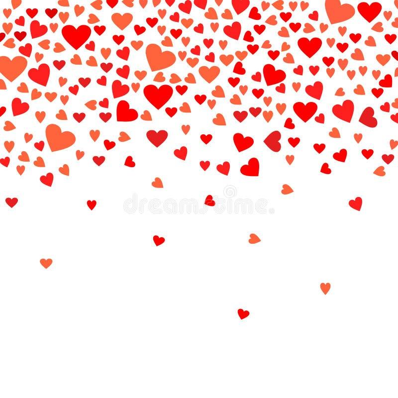 您的情人节贺卡设计的抽象爱背景 库存例证