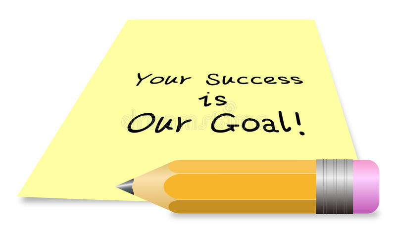 您的成功是我们的目标 库存例证