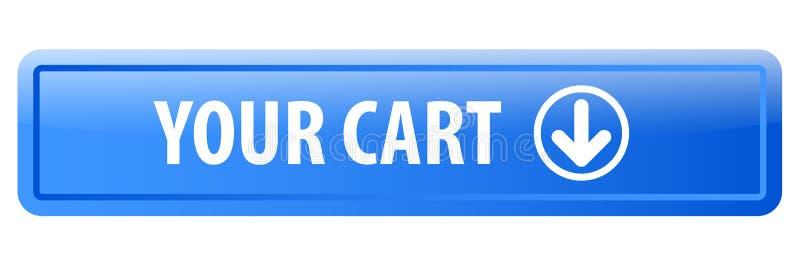 您的推车网按钮 库存例证