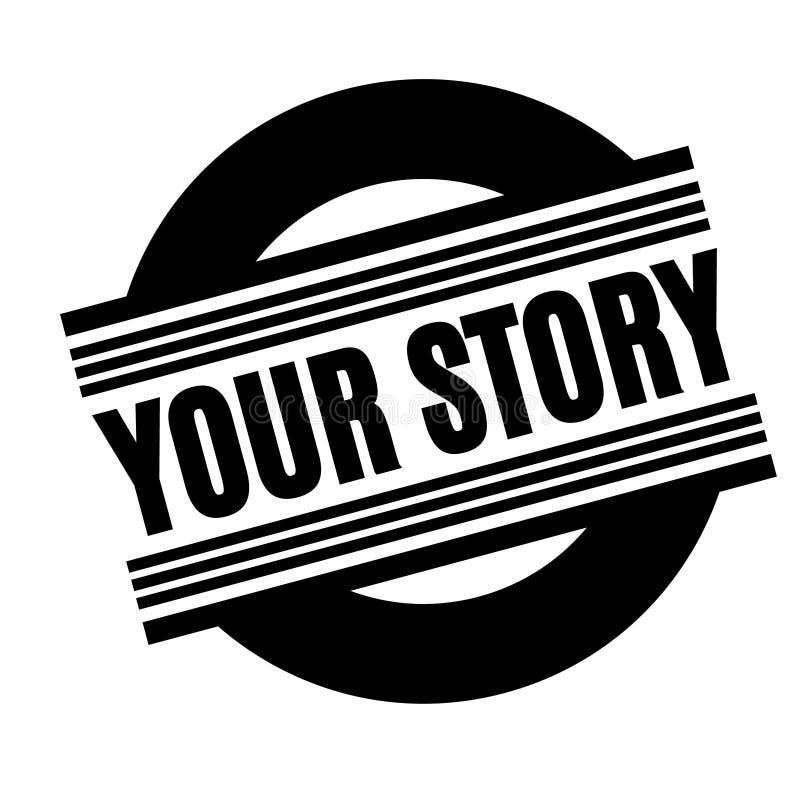 您的故事黑色邮票 皇族释放例证