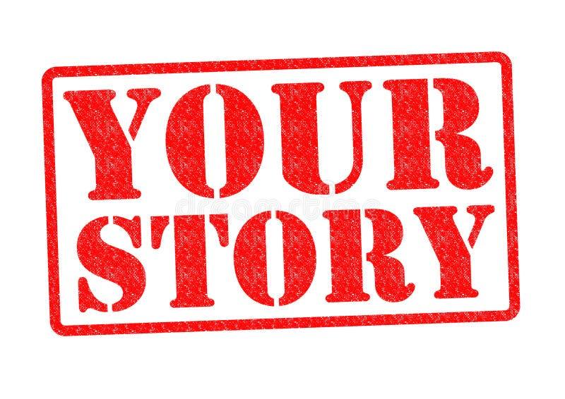 您的故事 皇族释放例证