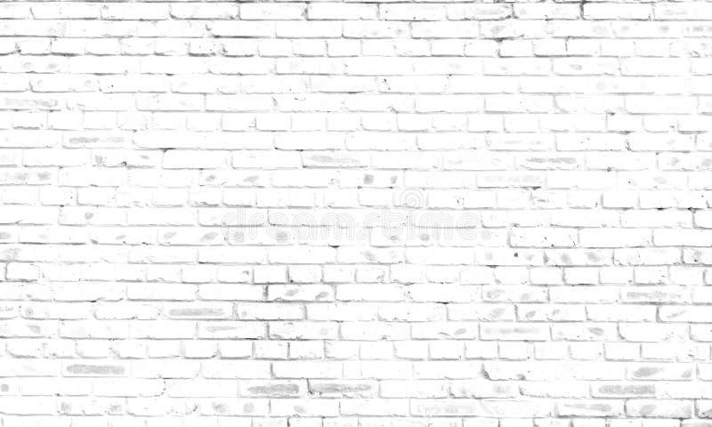 您的文本或装饰的黑白老砖墙纹理背景 免版税库存照片