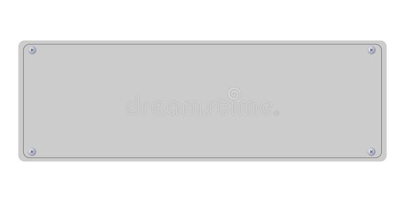 您的文本白色背景的空的板材 皇族释放例证