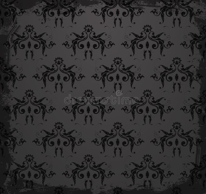 您的无缝的锦缎墙纸设计 皇族释放例证