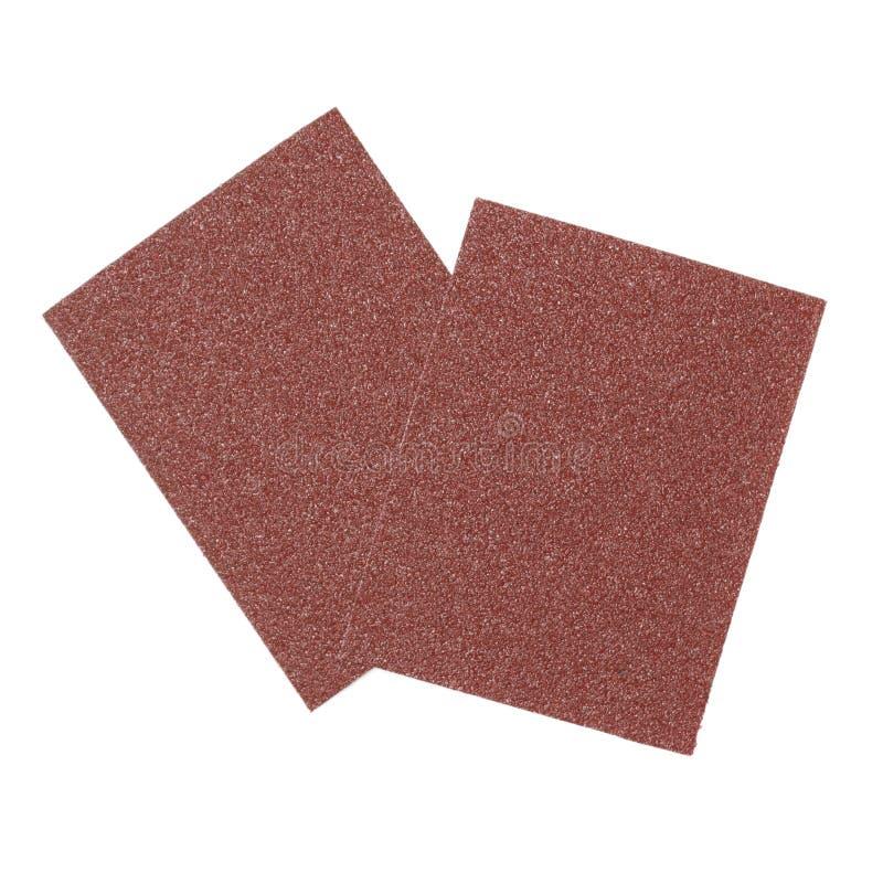 您的木制品的布朗沙纸 免版税图库摄影
