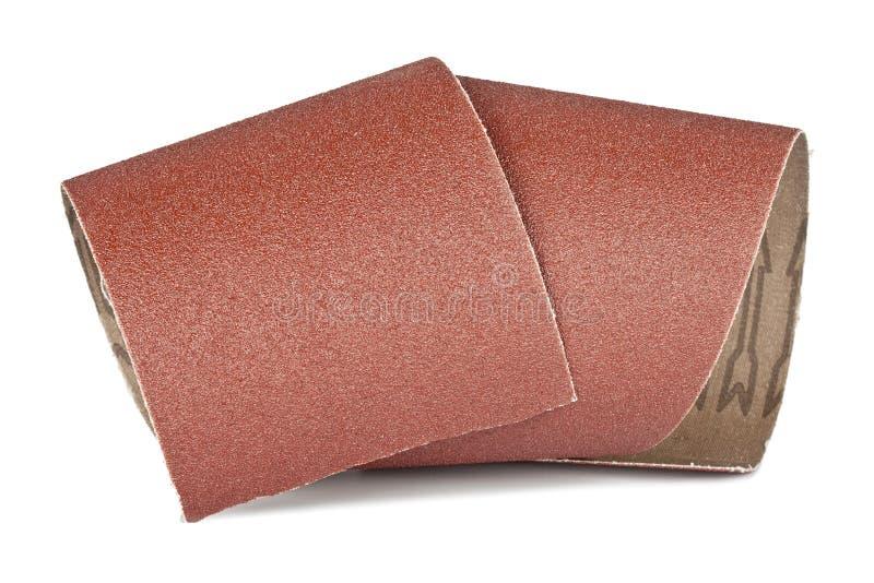 您的木制品的沙纸 免版税库存照片