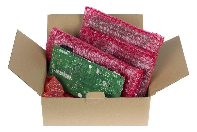 您的电子印制电路板的安全包装 免版税库存照片