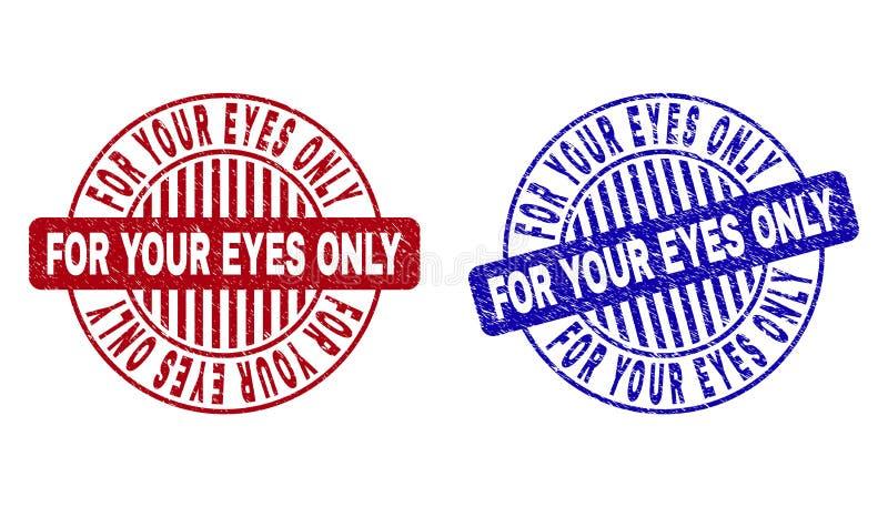 您的眼睛的难看的东西只构造了圆的邮票 库存例证