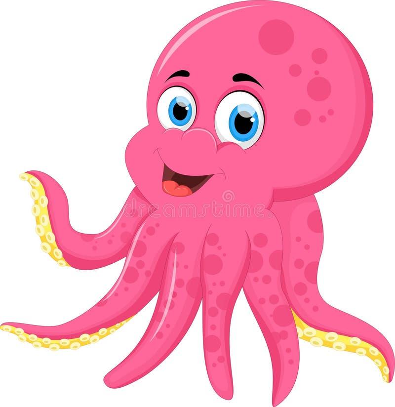 您的章鱼动画片设计 皇族释放例证