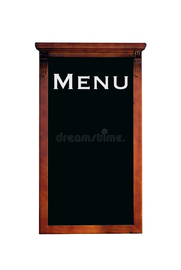您的菜单的黑板 免版税库存照片