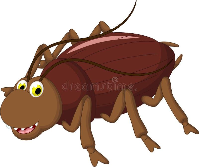 您的蟑螂动画片设计 库存例证