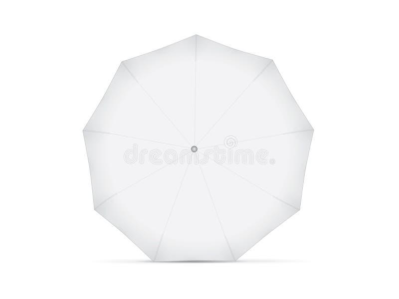 您的设计和商标的伞 向量例证