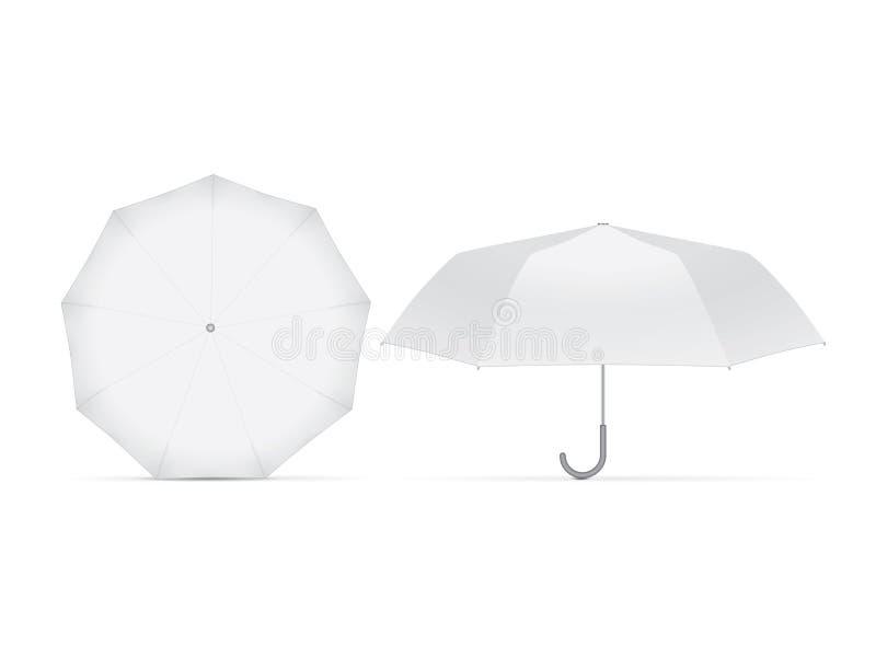 您的设计和商标的伞 皇族释放例证