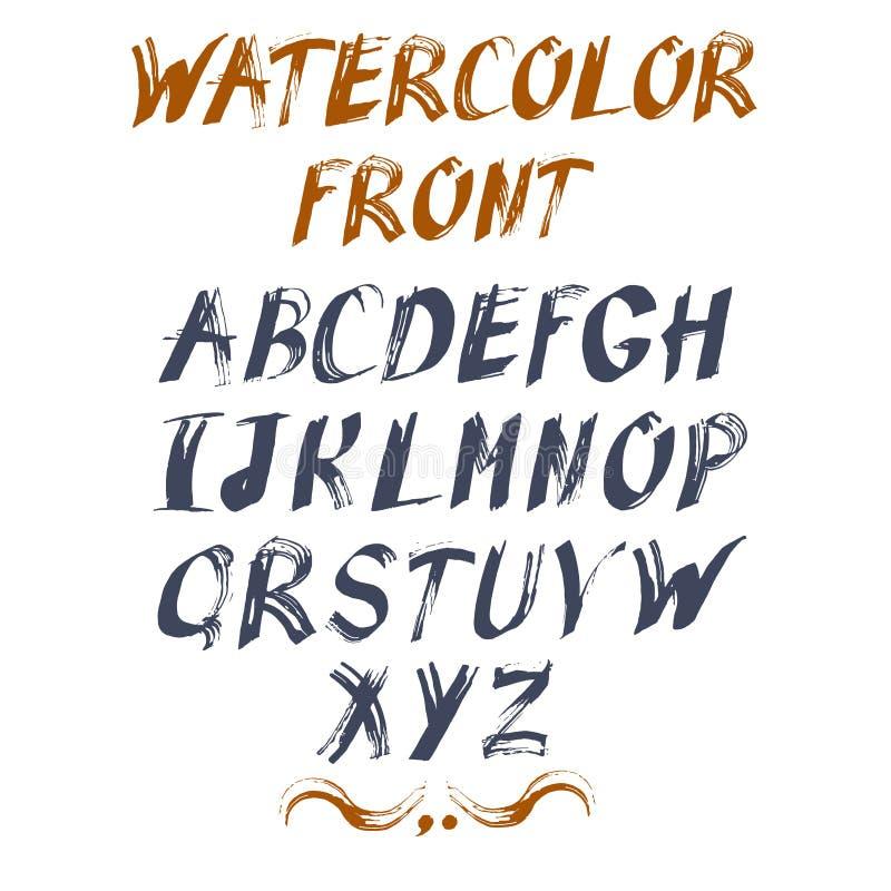 您的设计的传染媒介字母表 拉长的现有量信函 皇族释放例证