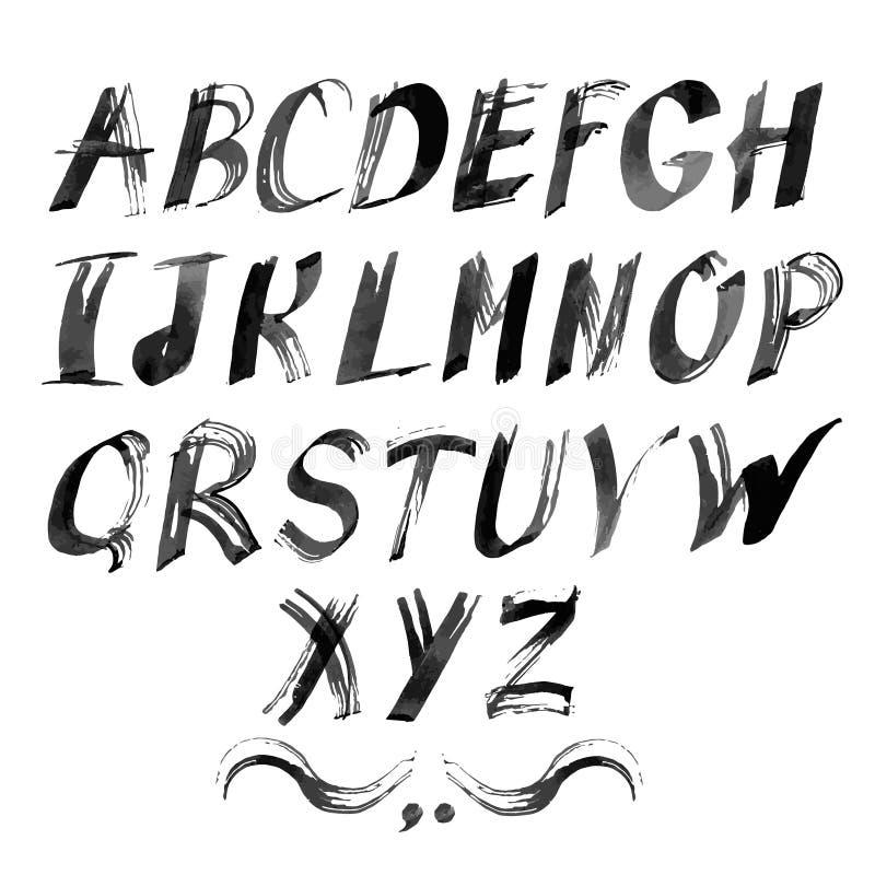 您的设计的传染媒介字母表 拉长的现有量 皇族释放例证