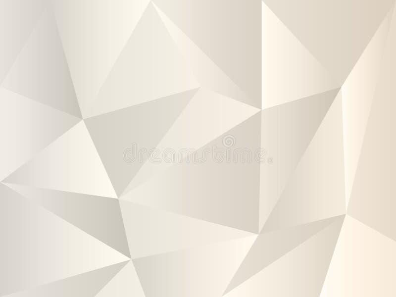 冬季白色和灰色图案,适合您的设计 三角形的珍珠灰多边形背景 简单几何样式 皇族释放例证