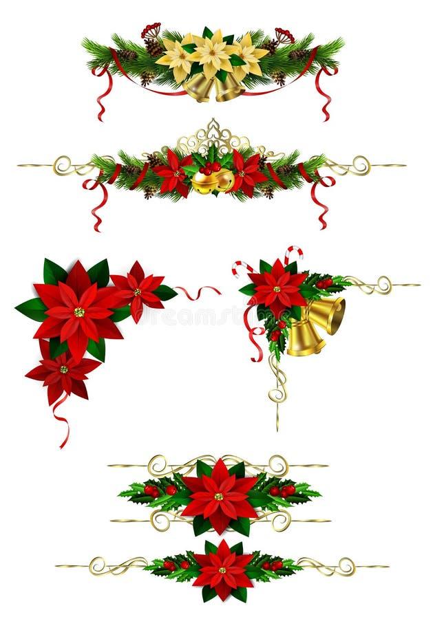 您的设计的圣诞节元素 库存例证