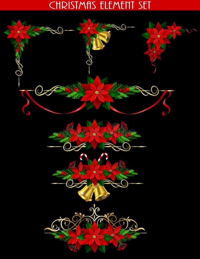 您的设计的圣诞节元素 皇族释放例证