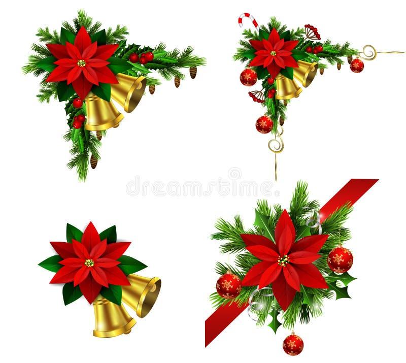 您的设计的圣诞节元素 向量例证