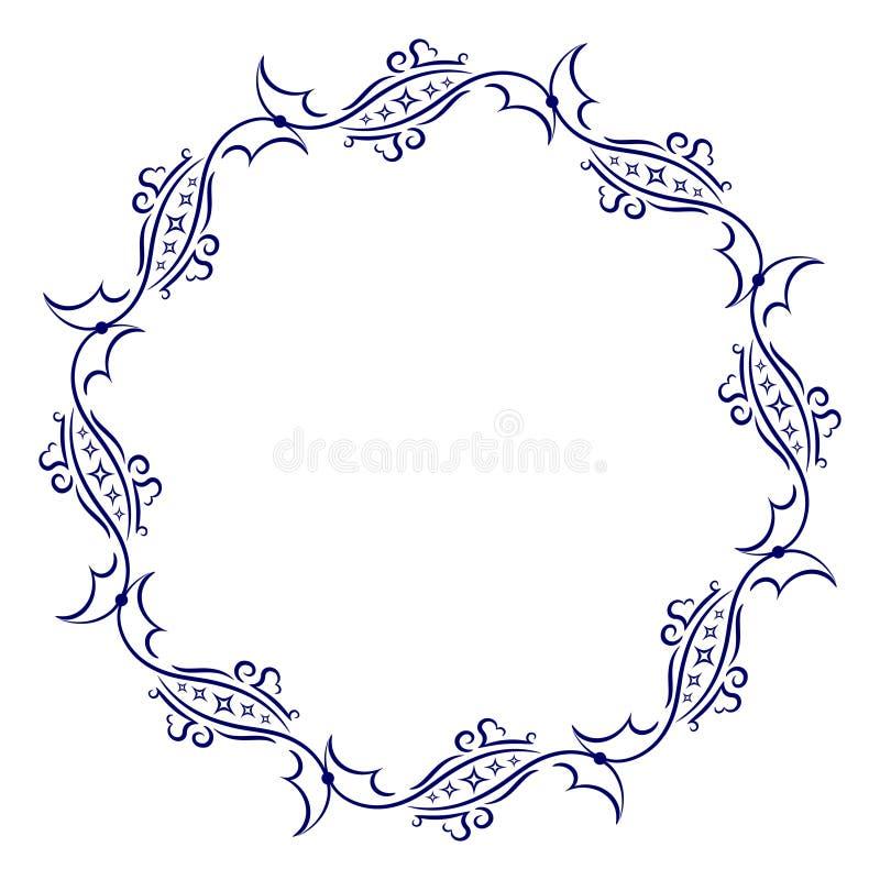 您的设计的装饰圆的框架 向量例证