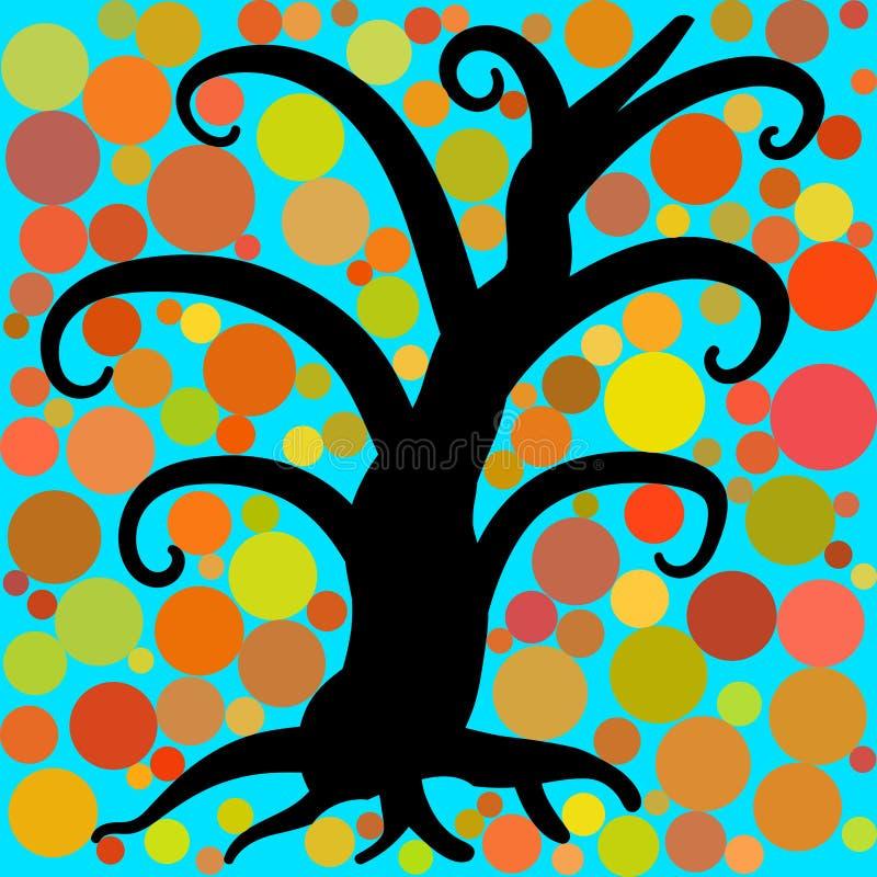 您的设计的2抽象树绿色 向量例证