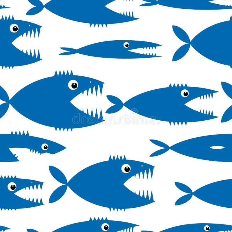 您的设计的滑稽的鱼动画片 皇族释放例证