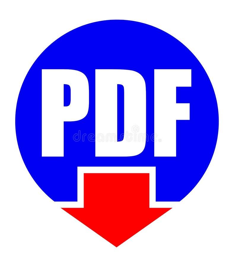 您的设计的PDF下载平的象 库存例证