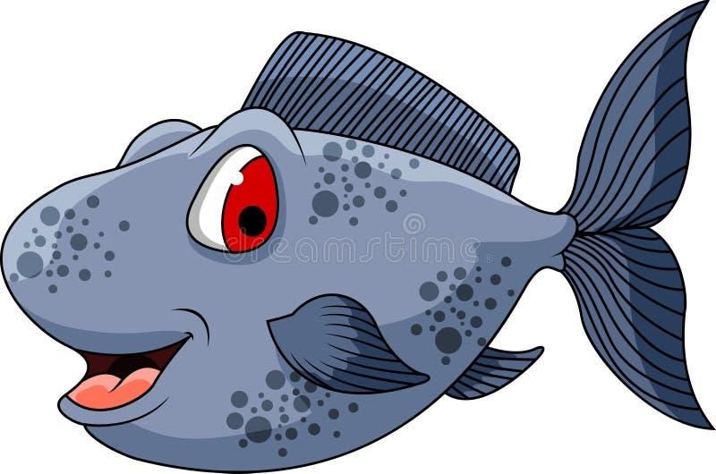 您的逗人喜爱的鱼动画片设计 皇族释放例证