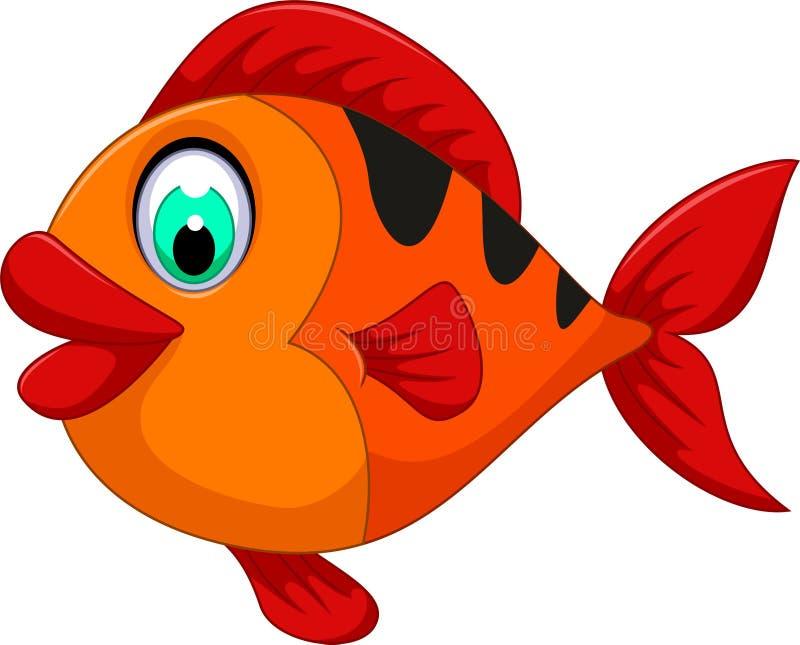 您的滑稽的逗人喜爱的鱼动画片设计 库存例证